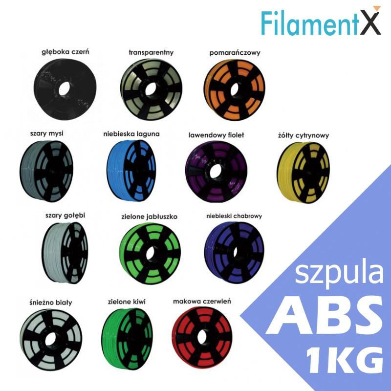 Filament ABS 1,75mm 1kg (400mb) paleta kolorów
