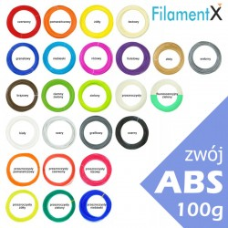 A rool of 100g filament ABS 1.75mm (40mb - various colors)