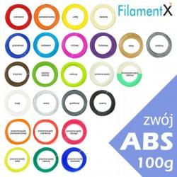 100g Filamentu ABS o grubości 1,75mm (40mb - różne kolory)