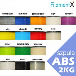 Filament ABS 1,75mm 2kg (różne kolory)