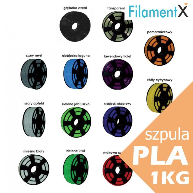 Filament PLA 1,75mm 1kg (350mb) 13 kolorów