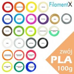 100g Filamentu PLA o grubości 1,75mm (35mb - różne kolory do wyboru)